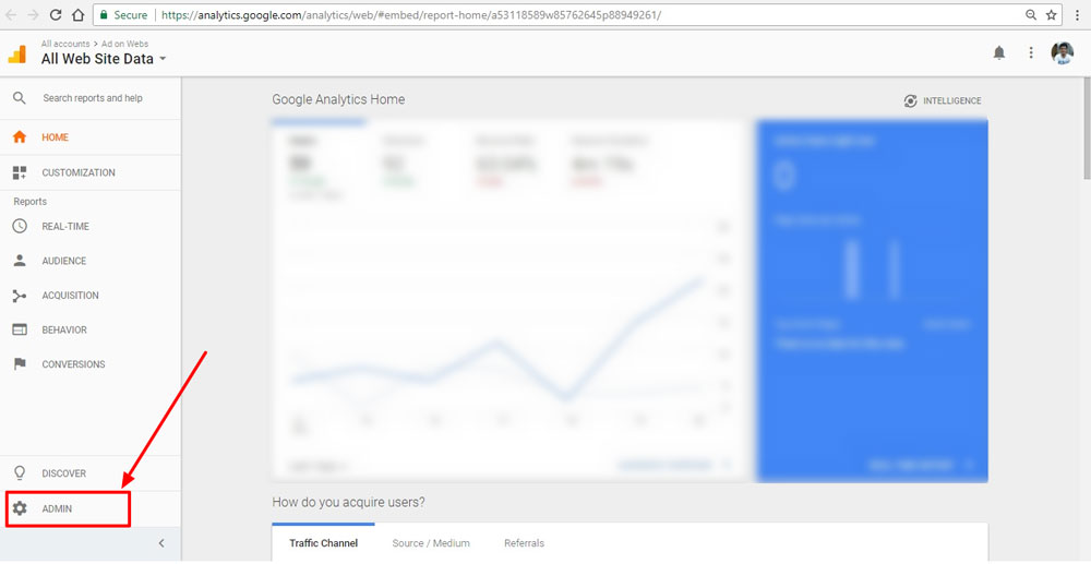 select-admin-tab-on-google-analytics