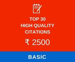 Top 30 High-quality citations